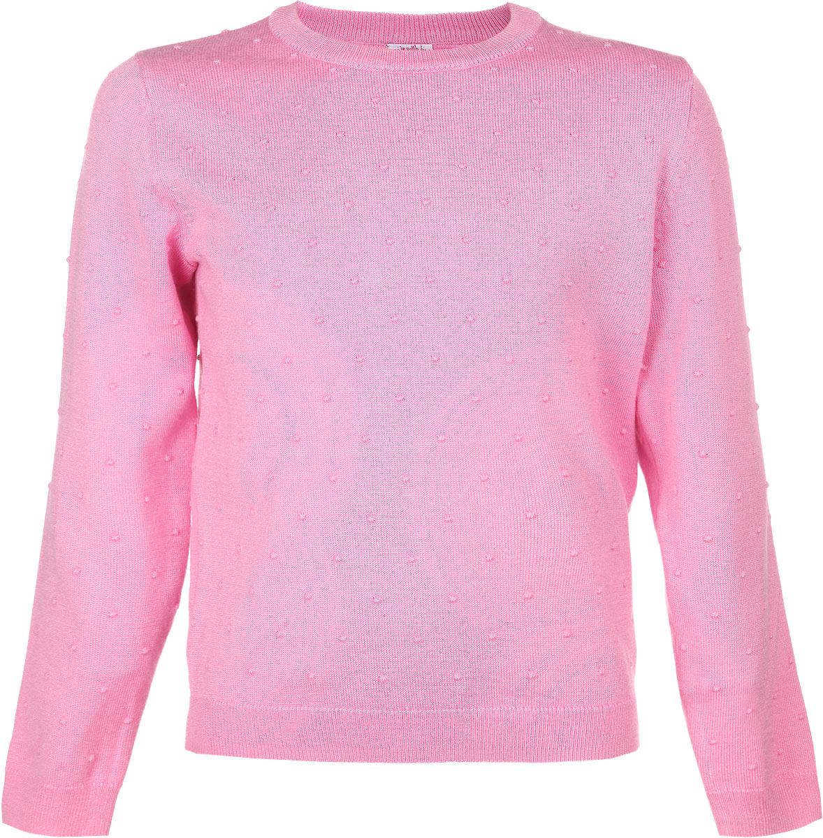 Джемпер для девочки Sela, цвет: светло-розовый. JR-514/144-6131. Размер 104, 4 годаJR-514/144-6131Джемпер для девочки Sela идеально подойдет вашей маленькой моднице. Изготовленный из вискозы с добавлением нейлона, он необычайно мягкий и приятный на ощупь, не сковывает движения, обеспечивая наибольший комфорт. Модель с длинными рукавами и круглым вырезом горловины оформлена рельефным узором. Вырез горловины, низ джемпера и рукава дополнены трикотажной эластичной резинкой. Современный дизайн и расцветка делают этот джемпер модным и стильным предметом детского гардероба. В нем ваша дочурка будет чувствовать себя уютно, комфортно и всегда будет в центре внимания!