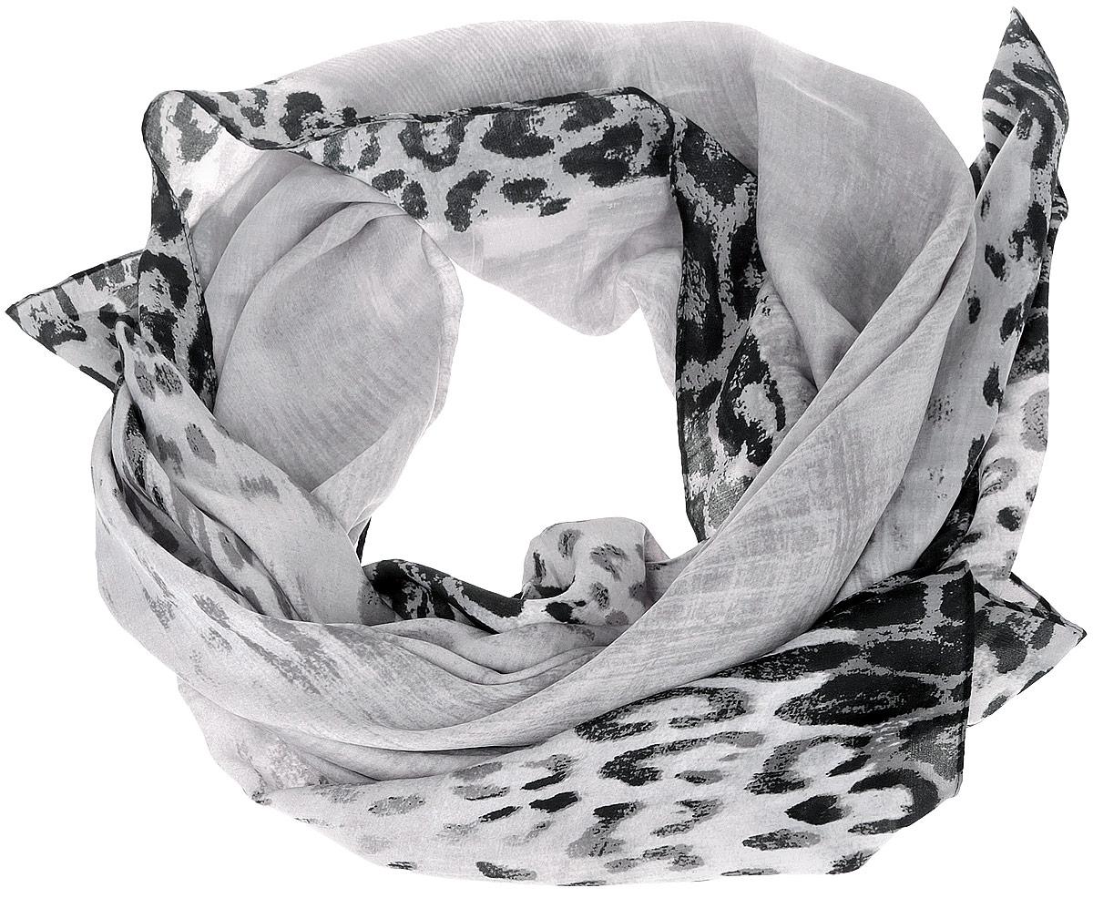 Шарф женский Fabretti, цвет: серый, черный. RDL1503-7. Размер 180 см х 90 смRDL1503-7Женский шарф Fabretti, выполненный из полиэстера с добавлением шелка, гармонично дополнит образ современной женщины. Благодаря своему составу, он мягкий и очень приятный на ощупь. Модель оформлена по краям леопардовым принтом. Современный дизайн и расцветка делают этот шарф модным и стильным женским аксессуаром. Он подарит вам ощущение комфорта и уюта.