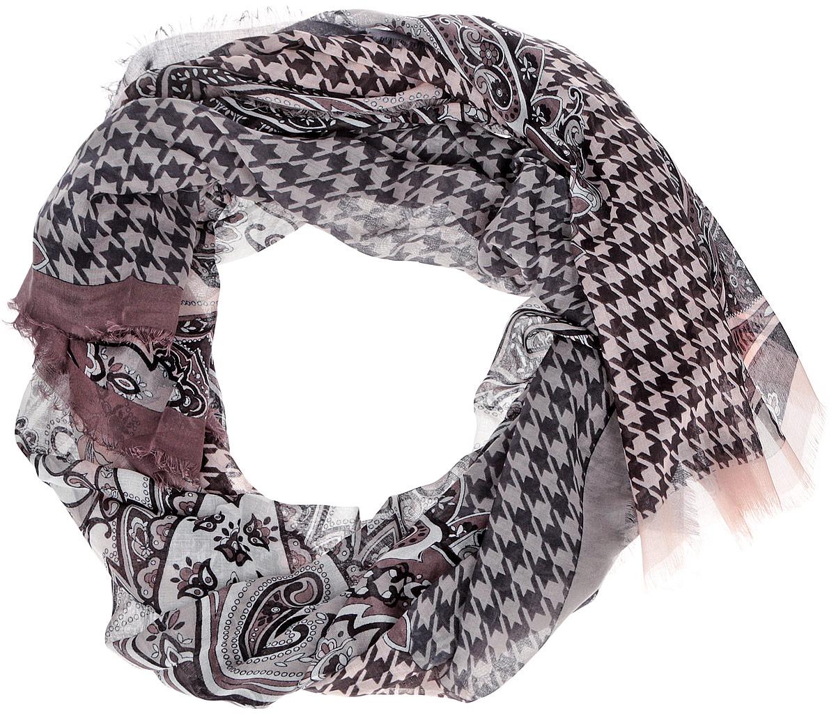 ШарфCX1516-55-5Модный женский шарф Leo Ventoni подарит вам уют и станет стильным аксессуаром, который призван подчеркнуть вашу индивидуальность и женственность. Тонкий шарф выполнен из высококачественного 100% модала, он невероятно мягкий и приятный на ощупь. Шарф оформлен тонкой бахромой по краю и украшен принтом в мелкую клетку с изображением изысканных этнических узоров. Этот модный аксессуар гармонично дополнит образ современной женщины, следящей за своим имиджем и стремящейся всегда оставаться стильной и элегантной. Такой шарф украсит любой наряд и согреет вас в непогоду, с ним вы всегда будете выглядеть изысканно и оригинально.