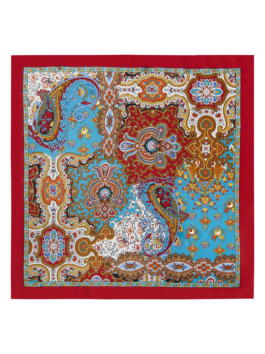 Платок женский Eleganzza, цвет: темно-красный, белый, голубой. E03-7102. Размер 53 см х 53 смE03-7102Стильный женский платок Eleganzza станет великолепным завершением любого наряда. Платок изготовлен из высококачественного шелка и оформлен оригинальным орнаментом. Классическая квадратная форма позволяет носить платок на шее, украшать им прическу или декорировать сумочку. Такой платок превосходно дополнит любой наряд и подчеркнет ваш неповторимый вкус и элегантность.