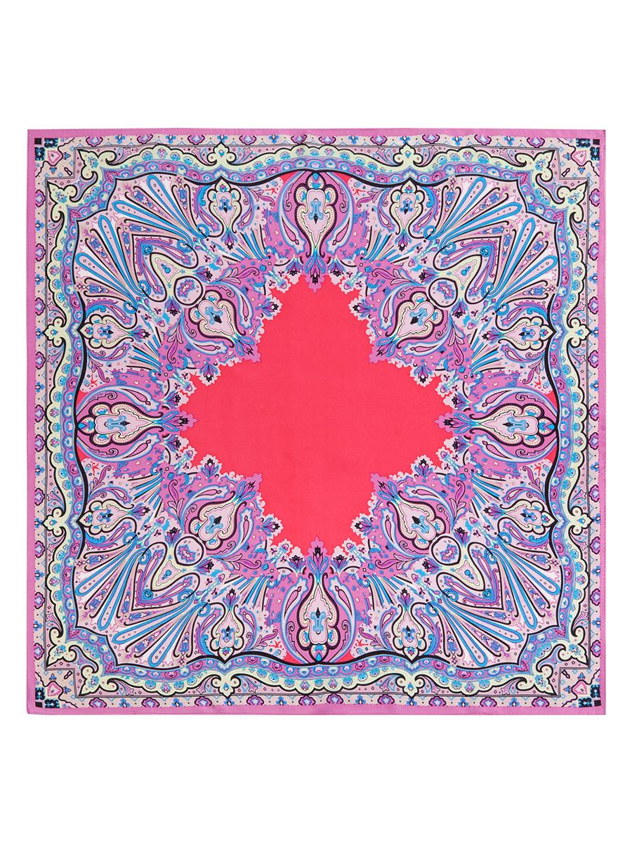 Платок женский Eleganzza, цвет: красный, розовый, голубой. SS03-7658. Размер 53 см х 53 смSS03-7658Стильный женский платок Eleganzza станет великолепным завершением любого наряда. Платок изготовлен из высококачественного шелка и оформлен оригинальным орнаментом. Классическая квадратная форма позволяет носить платок на шее, украшать им прическу или декорировать сумочку. Такой платок превосходно дополнит любой наряд и подчеркнет ваш неповторимый вкус и элегантность.