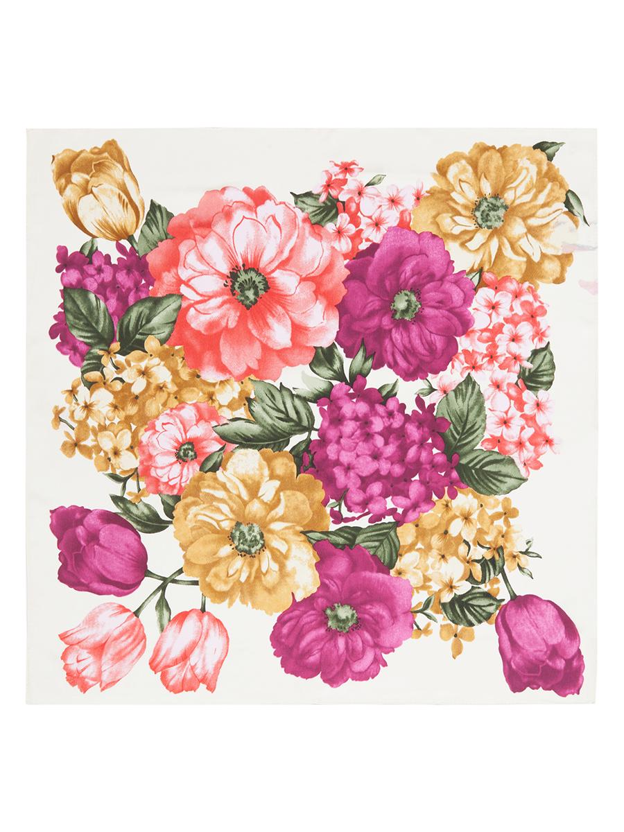 Платок женский Eleganzza, цвет: фиолетовый, зеленый, горчичный. SS03-7766. Размер 53 см х 53 смSS03-7766Стильный женский платок Eleganzza станет великолепным завершением любого наряда. Платок изготовлен из высококачественного шелка и оформлен оригинальным цветочным орнаментом. Классическая квадратная форма позволяет носить платок на шее, украшать им прическу или декорировать сумочку. Такой платок превосходно дополнит любой наряд и подчеркнет ваш неповторимый вкус и элегантность.