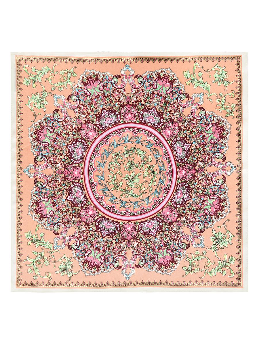 ПлатокSS03-7788Стильный женский платок Eleganzza станет великолепным завершением любого наряда. Платок изготовлен из высококачественного шелка и оформлен оригинальным орнаментом. Классическая квадратная форма позволяет носить платок на шее, украшать им прическу или декорировать сумочку. Такой платок превосходно дополнит любой наряд и подчеркнет ваш неповторимый вкус и элегантность.