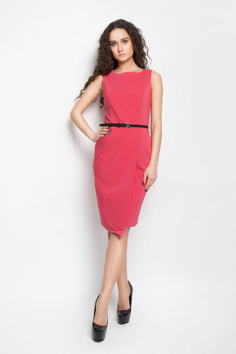 ПлатьеSSU1476ROОчаровательное платье Top Secret, выполненное из высококачественного материала с подкладкой, идеально впишется в ваш гардероб. Модель приталенного кроя без рукавов и круглым вырезом горловины застёгивается по спинке на потайную застежку-молнию. Изысканное платье-миди, оформленное вытачками на груди и оригинальным запахом на юбке, создаст обворожительный неповторимый образ. Талию подчеркнет тонкий ремешок, регулируемый металлической пряжкой. Это модное и удобное платье станет превосходным дополнением к вашему гардеробу, оно подарит вам удобство и поможет вам подчеркнуть свой вкус и неповторимый стиль.
