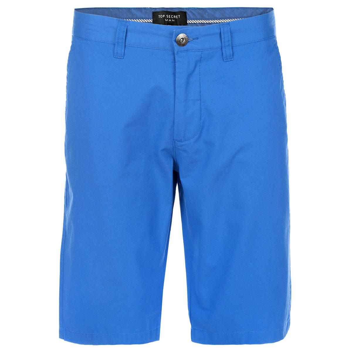 Шорты мужские Top Secret, цвет: голубой. SSZ0690NI34. Размер 34 (50)SSZ0690NIСтильные шорты-бермуды Top Secret, выполненные из высококачественного хлопка, подойдут любому мужчине, который ценит комфорт и оригинальность. Эта модель станет отличным дополнением к вашему современному образу. Шорты с ширинкой на молнии дополнительно застегиваются на пуговицу. Модель дополнена двумя прорезными карманами спереди и двумя прорезными карманами на пуговицах сзади. На поясе имеются шлевки для ремня. Эти модные и удобные бермуды послужат отличным дополнением к вашему гардеробу. В них вы всегда будете чувствовать себя уверенно и комфортно.