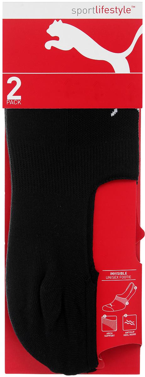 Комплект носков90624501Укороченные носки Puma Invisible Footie 2P, изготовленные из высококачественного хлопкового трикотажа, подходят как для занятий спортом, так и для повседневного ношения. Оформлены носки оригинальным логотипом Puma. Идеальное сочетание практичности, легкости и комфорта. В комплект входят две пары носков.