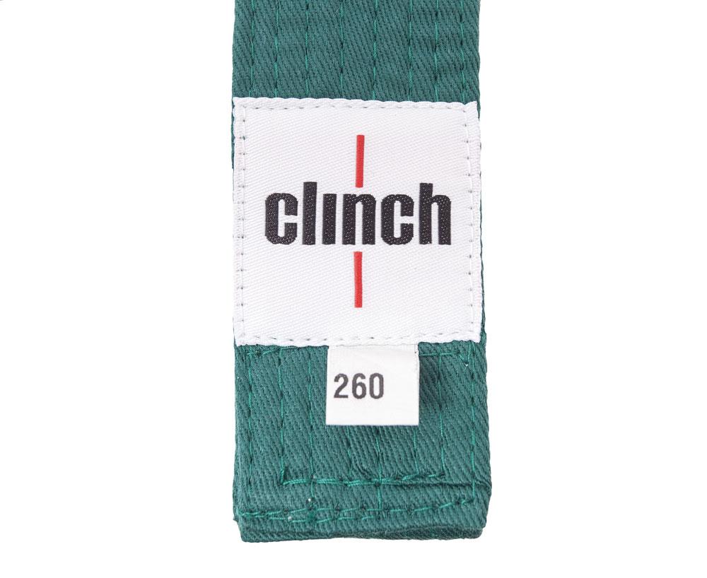 Пояс для единоборств Clinch Budo Belt, цвет: зеленый, 260 смC303Пояс универсальный для единоборств Budo Belt. 100% хлопок, стойкое окрашивание, простроченный -8 строчек. Ширина 4,5 см, жесткий.