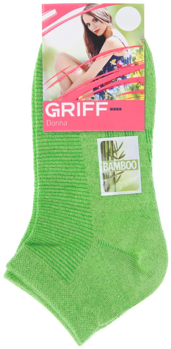 Носки женские Griff Бамбук, цвет: зеленый. D4U5. Размер 35/38D4U5Женские укороченные носки Griff изготовлены из высококачественного сырья. Однотонные носки очень мягкие на ощупь, а широкая резинка плотно облегает ногу, не сдавливая ее, благодаря чему вам будет комфортно и удобно. Усиленная пятка и мысок обеспечивают надежность и долговечность.