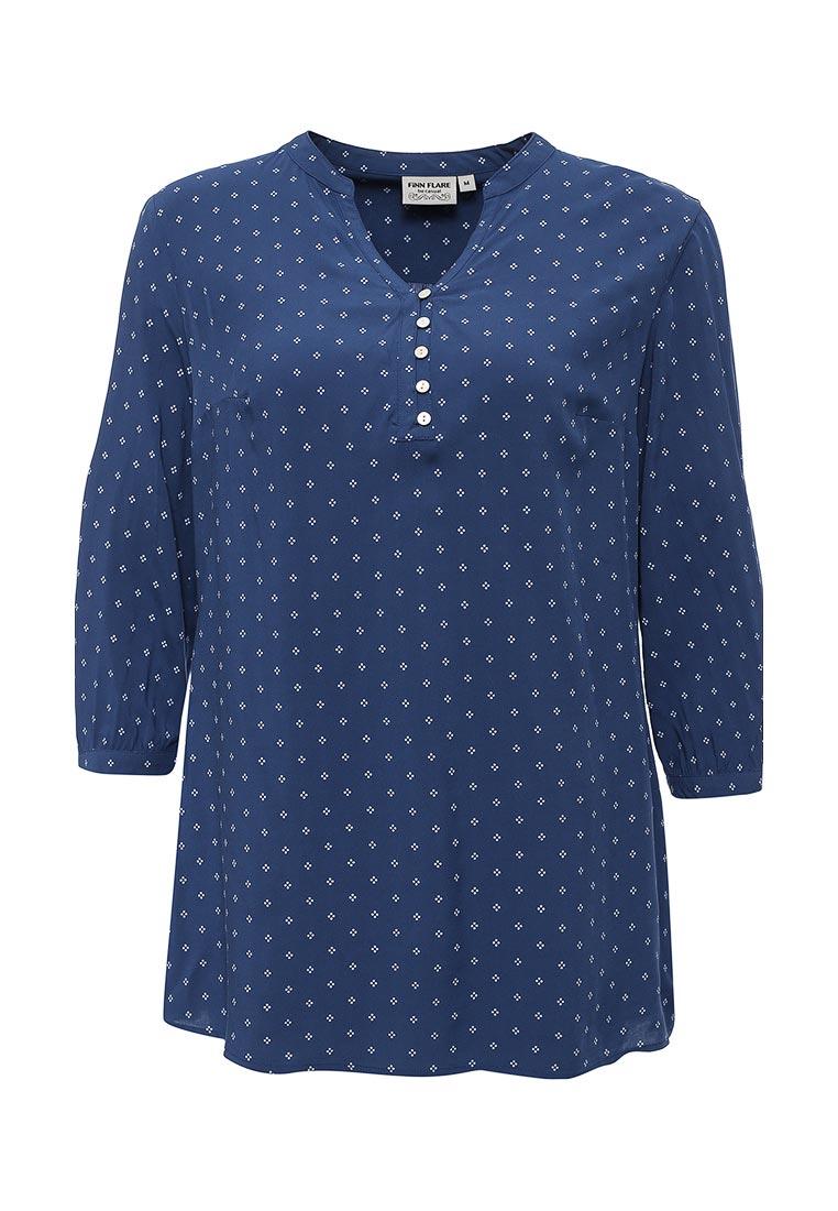 БлузкаS16-14025Стильная блузка Finn Flare, выполненная из мягкой вискозы, идеально дополнит ваш образ. Модель с V-образным вырезом горловины и рукавами 3/4 на груди застегивается на пуговицы. Манжеты рукавов также застегиваются на пуговицы. Оформлена модель оригинальным принтом. Эта блузка подарит вам комфорт в летние дни и послужит отличным дополнением к вашему гардеробу.