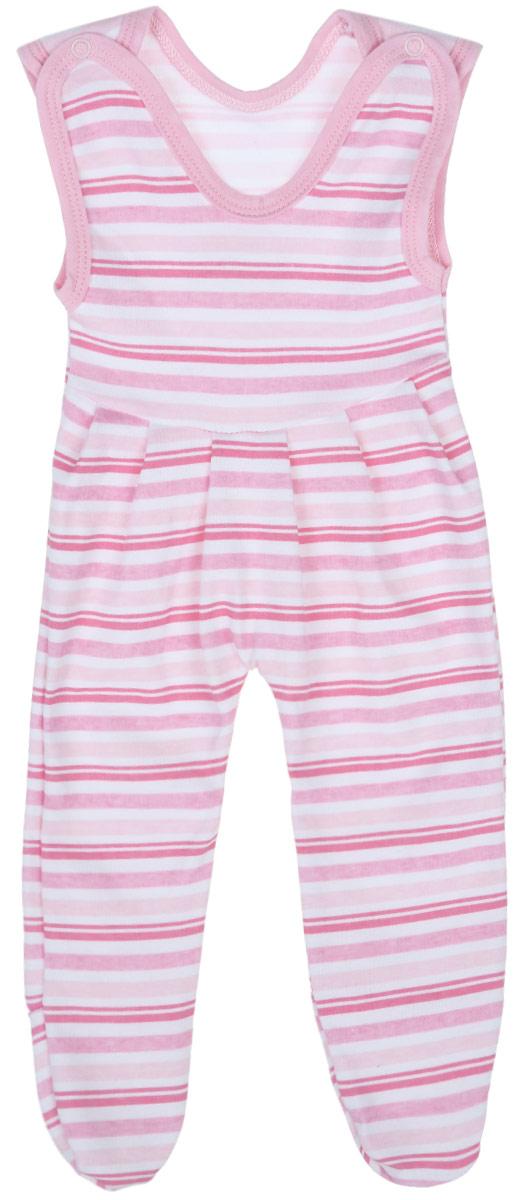 Ползунки с грудкой для девочки Трон-плюс, цвет: белый, розовый. 5211_ОЗ14_полоски 2. Размер 80, 12 месяцев5211_ОЗ14_полоски 2Ползунки с грудкой для девочки Трон-плюс - очень удобный и практичный вид одежды для малышей. Они отлично сочетаются с футболками и кофточками, подходят для ношения с подгузником и без него. Ползунки выполнены из натурального хлопка, благодаря чему они очень мягкие и приятные на ощупь, не раздражают нежную кожу ребенка и хорошо вентилируются, обеспечивая комфорт. Ползунки с закрытыми ножками (след отрезной) застегиваются сверху на две кнопки, что помогает с легкостью переодеть малышку. Спереди модели заложены небольшие складки. Изделие оформлено принтом в полоску.Ползунки полностью соответствуют особенностям жизни младенца в ранний период, не стесняя и не ограничивая его в движениях.