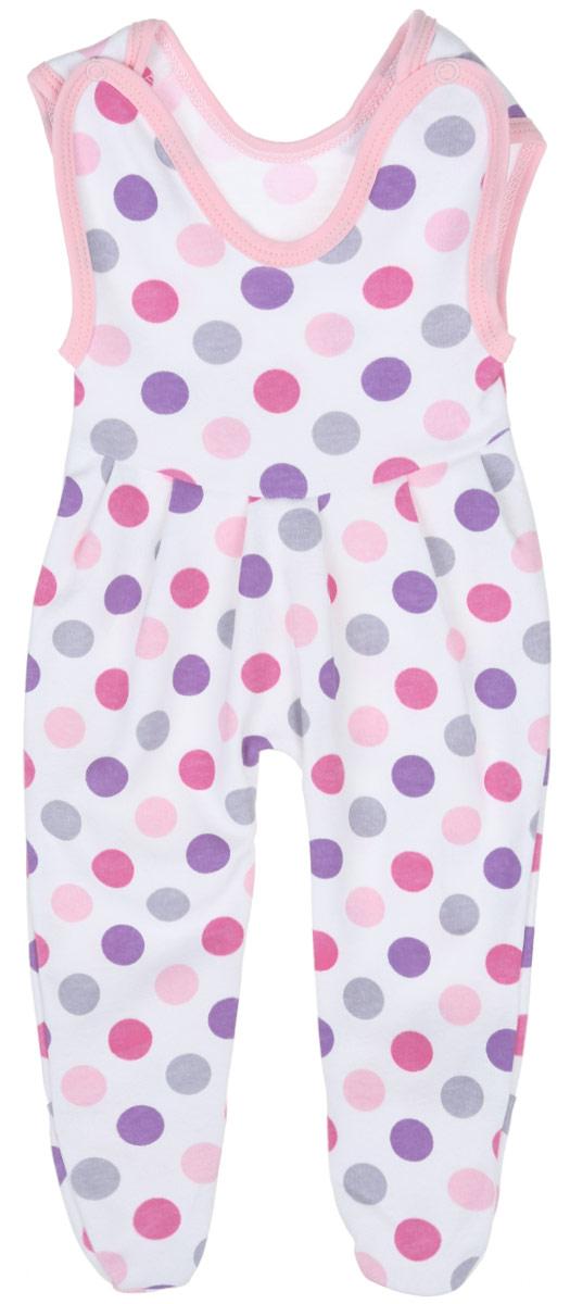 Ползунки с грудкой для девочки Трон-плюс, цвет: белый, розовый, фиолетовый. 5211_ВЛ15_горох. Размер 62, 3 месяца5211_ВЛ15_горохПолзунки с грудкой для девочки Трон-плюс - очень удобный и практичный вид одежды для малышей. Они отлично сочетаются с футболками и кофточками, подходят для ношения с подгузником и без него. Ползунки выполнены из натурального хлопка, благодаря чему они очень мягкие и приятные на ощупь, не раздражают нежную кожу ребенка и хорошо вентилируются, обеспечивая комфорт. Ползунки с закрытыми ножками (след отрезной) застегиваются сверху на две кнопки, что помогает с легкостью переодеть малышку. Спереди модели заложены небольшие складки. Изделие оформлено принтом в крупный разноцветный горох.Ползунки полностью соответствуют особенностям жизни младенца в ранний период, не стесняя и не ограничивая его в движениях.