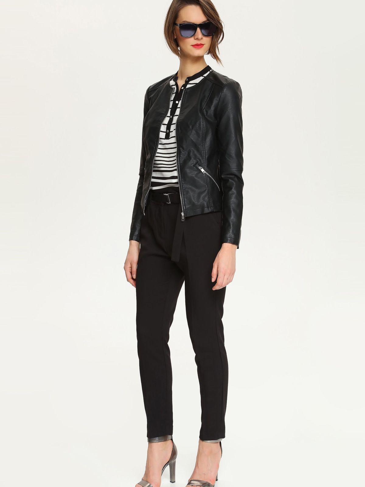 КурткаSKU0673CAСтильная женская куртка Top Secret, изготовленная из полиуретана, смотрится модно и свежо. Куртка с круглым вырезом горловины и длинными рукавами застегивается на застежку-молнию. Спереди модель дополнена двумя прорезными карманами на застежках-молниях. Низ рукавов оформлен декоративными застежками-молниями. Такая куртка обеспечит вам не только красивый внешний вид и комфорт, но и дополнительную защиту от прохладной погоды.