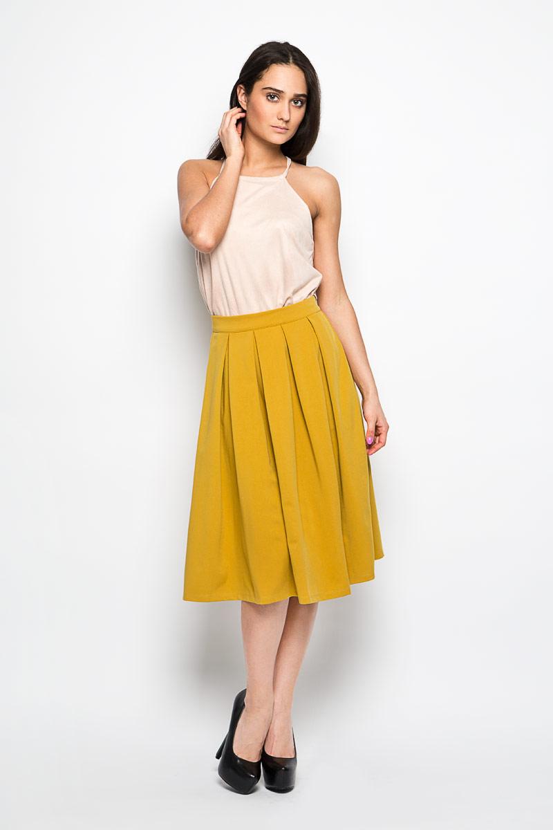 ЮбкаKA4986 ACID YELLOWЭффектная юбка Glamorous поможет создать оригинальный женственный образ. Изготовленная из высококачественного эластичного материала, она не сковывает движения и обеспечивает удобство при носке. Модель А-силуэта имеет пришивной пояс и застегивается сзади на застежку-молнию. От пояса заложены крупные складки, придающие изделию пышность. Стильная юбка займет достойное место в вашем гардеробе и будет дарить вам комфорт в течение всего дня.