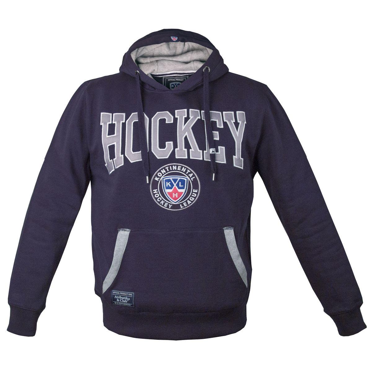 Толстовка с логотипом ХК262860Мужская толстовка КХЛ с капюшоном и карманом-кенгуру выполнена из высококачественного материала. Модель оформлена вышивкой.