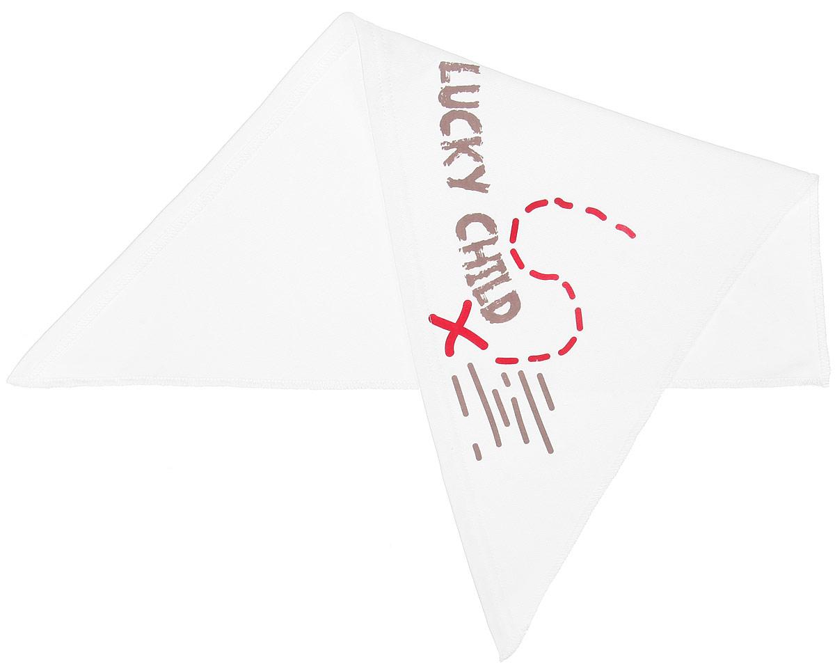 Бандана детская22-93Бандана для мальчика Lucky Child Дальние берега станет стильным дополнением к детскому гардеробу. Изготовленная из натурального хлопка, она мягкая и приятная на ощупь, хорошо пропускает воздух. Бандана треугольной формы завязывается на голове сзади. Модель оформлена оригинальной термоаппликацией и названием бренда. Такая бандана послужит отличным аксессуаром во время прогулок и игр на свежем воздухе и защитит голову вашего ребенка от солнца и сильного ветра. В ней маленький модник всегда будет в центре внимания! Уважаемые клиенты! Размер, доступный для заказа, является обхватом головы.