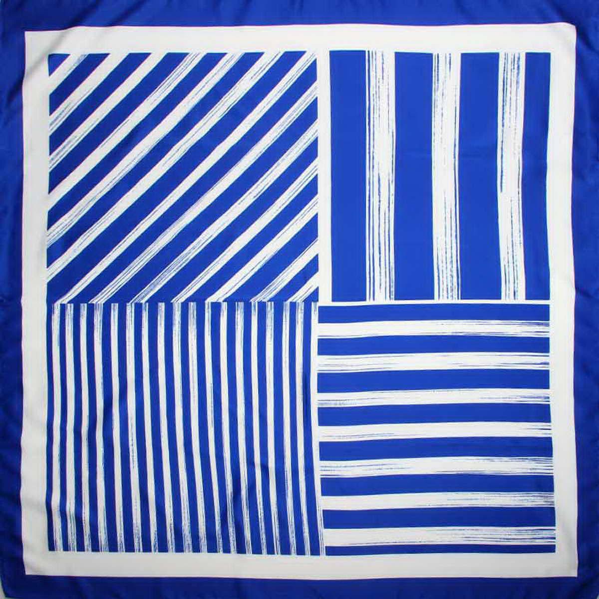 Платок женский Venera, цвет: синий, белый. 3907033-11. Размер 90 см х 90 см3907033-11Стильный женский платок Venera станет великолепным завершением любого наряда. Платок изготовлен из полиэстера и оформлен принтом в полоску. Классическая квадратная форма позволяет носить платок на шее, украшать им прическу или декорировать сумочку. Легкий и приятный на ощупь платок поможет вам создать изысканный женственный образ. Такой платок превосходно дополнит любой наряд и подчеркнет ваш неповторимый вкус и элегантность.