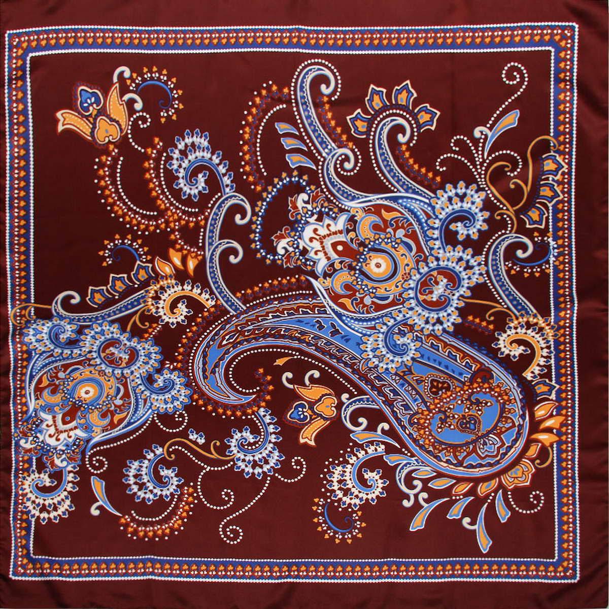 Платок3912983-219Яркий и неповторимый женский платок Venera изготовлен из легкого полиэстера, будет идеальным вариантом для дополнения любого наряда. Насыщенная цветовая гамма станет глотком свежести и летнего настроения, а идеальный принт в восточном индийском стиле станет элементом экзотичного и необычного. Классическая квадратная форма позволяет носить платок на шее, украшать им прическу или декорировать сумочку. Этот идеальный аксессуар предназначен для элегантной и изысканной женщины, которая всегда знает как привлечь к себе внимание и восторг. Платок Venera превосходно дополнит любой наряд и подчеркнет ваш неповторимый вкус и элегантность.