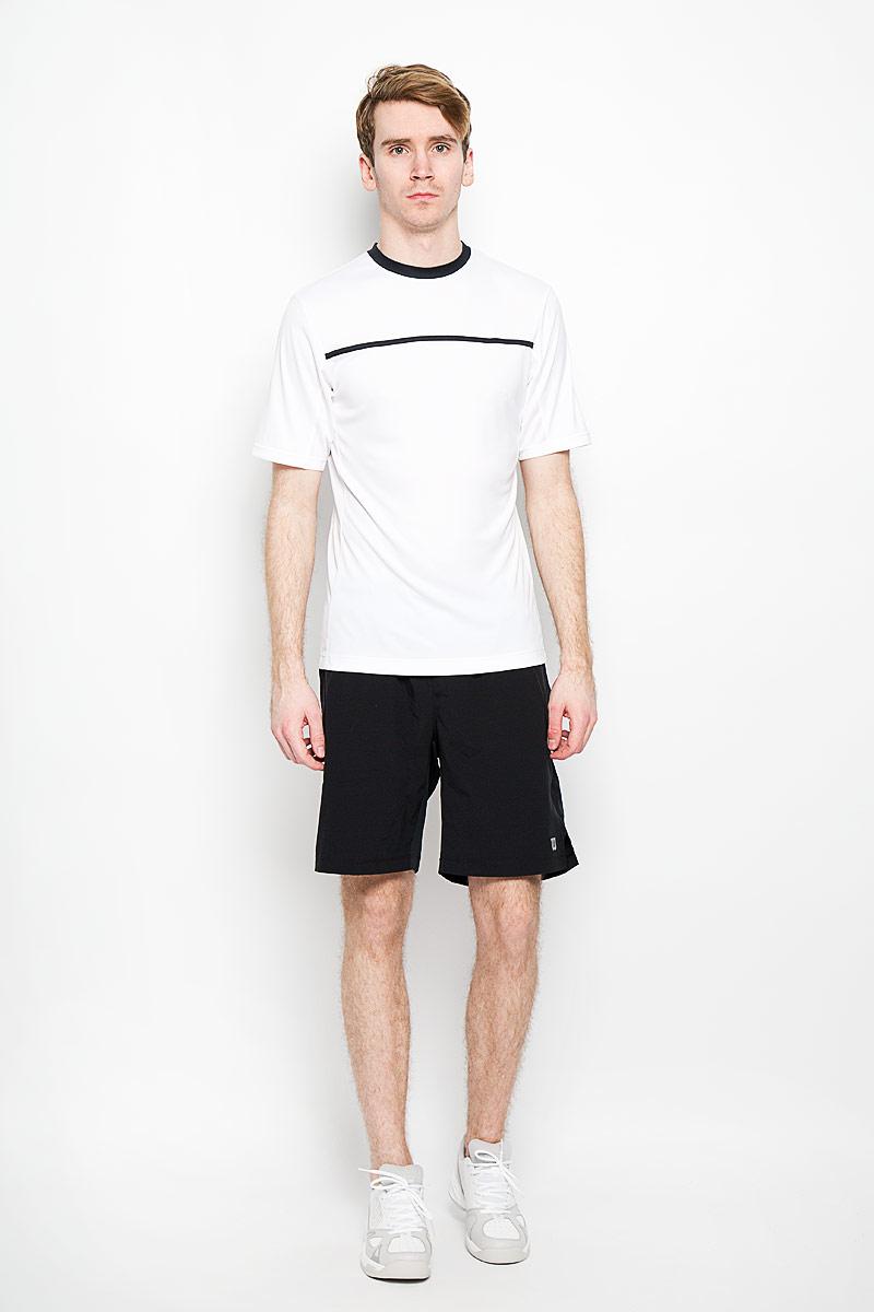 ФутболкаWRA725101Стильная мужская футболка для тенниса Wilson Rush Color Inset Crew, выполненная из полиэстера, обладает высокой теплопроводностью, воздухопроницаемостью и гигроскопичностью и великолепно отводит влагу, оставляя тело сухим даже во время интенсивных тренировок. Такая футболка превосходно подойдет для занятий спортом и активного отдыха. Модель с короткими рукавами и круглым вырезом горловины - идеальный вариант для занятий спортом. Такая футболка обеспечит свободу движений. Дополнительная вентиляция предусмотрена для лучшего воздухообмена. Эргономичные швы минимизируют натирание кожи, исключая дискомфорт. Бока модели и рукава дополнены перфорацией, сохраняя нормальную циркуляцию воздуха. Такая футболка подарит вам комфорт в течение всей игры и послужит замечательным дополнением к вашему гардеробу.