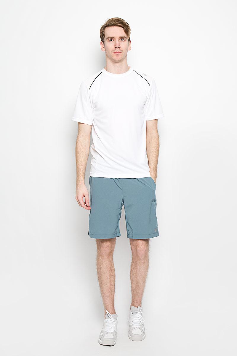 ФутболкаWRA703004Стильная мужская футболка для тенниса Wilson nVision Elite Crew, выполненная из полиэстера, обладает высокой теплопроводностью, воздухопроницаемостью и гигроскопичностью и великолепно отводит влагу, оставляя тело сухим даже во время интенсивных тренировок. Такая футболка превосходно подойдет для занятий спортом и активного отдыха. Модель с короткими рукавами и круглым вырезом горловины - идеальный вариант для занятий спортом. Такая футболка обеспечит свободу движений. Дополнительная вентиляция предусмотрена для лучшего воздухообмена. Эргономичные швы минимизируют натирание кожи, исключая дискомфорт. Такая футболка подарит вам комфорт в течение всей игры и послужит замечательным дополнением к вашему гардеробу.