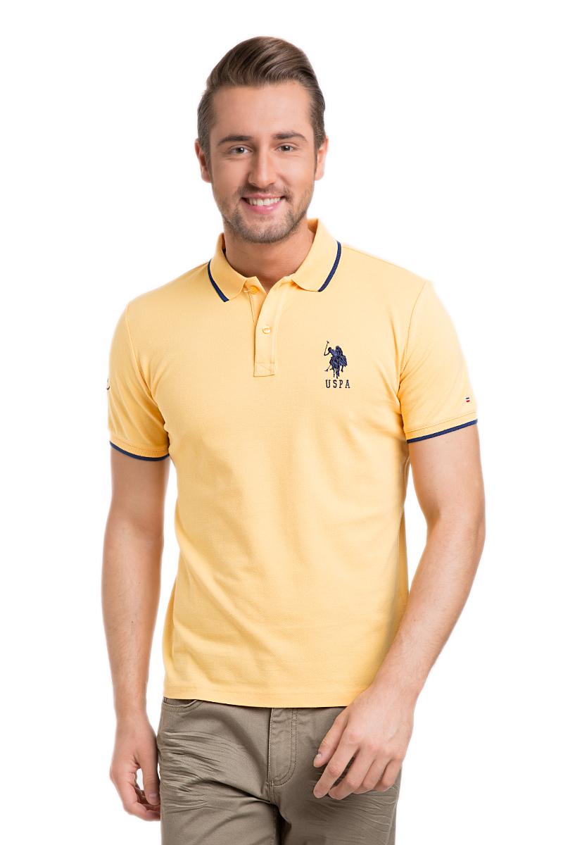 ПолоG081GL0110GSD01IY6_BY0001Стильная мужская футболка-поло U.S. Polo Assn., выполненная из высококачественного эластичного хлопка, обладает высокой теплопроводностью, воздухопроницаемостью и гигроскопичностью, позволяет коже дышать. Модель с короткими рукавами и отложным воротником - идеальный вариант для создания оригинального современного образа. Сверху футболка-поло застегивается на две пуговицы. Воротник и низ рукавов выполнены из трикотажной резинки. Модель оформлена на груди небольшой вышивкой в виде логотипа бренда.