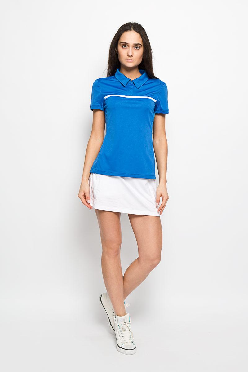 Поло для тенниса женское Wilson Rush Color Inset, цвет: голубой, белый. WRA724802. Размер L (46/48)WRA724802Стильная женская футболка-поло для тенниса Wilson Rush Color Inset, выполненная из полиэстера, обладает высокой теплопроводностью, воздухопроницаемостью и гигроскопичностью и великолепно отводит влагу, оставляя тело сухим даже во время интенсивных тренировок. Модель с короткими рукавами и отложным воротником - идеальный вариант для занятий спортом. Такая футболка-поло обеспечит свободу движений. Эргономичные швы минимизируют натирание кожи, исключая дискомфорт. Боковые стороны модели и рукава дополнены перфорацией, которая обеспечивает циркуляцию воздуха. Сверху футболка-поло застегивается на две пластиковые пуговицы. Такая футболка-поло подарит вам комфорт в течение всей игры и послужит замечательным дополнением к вашему гардеробу.