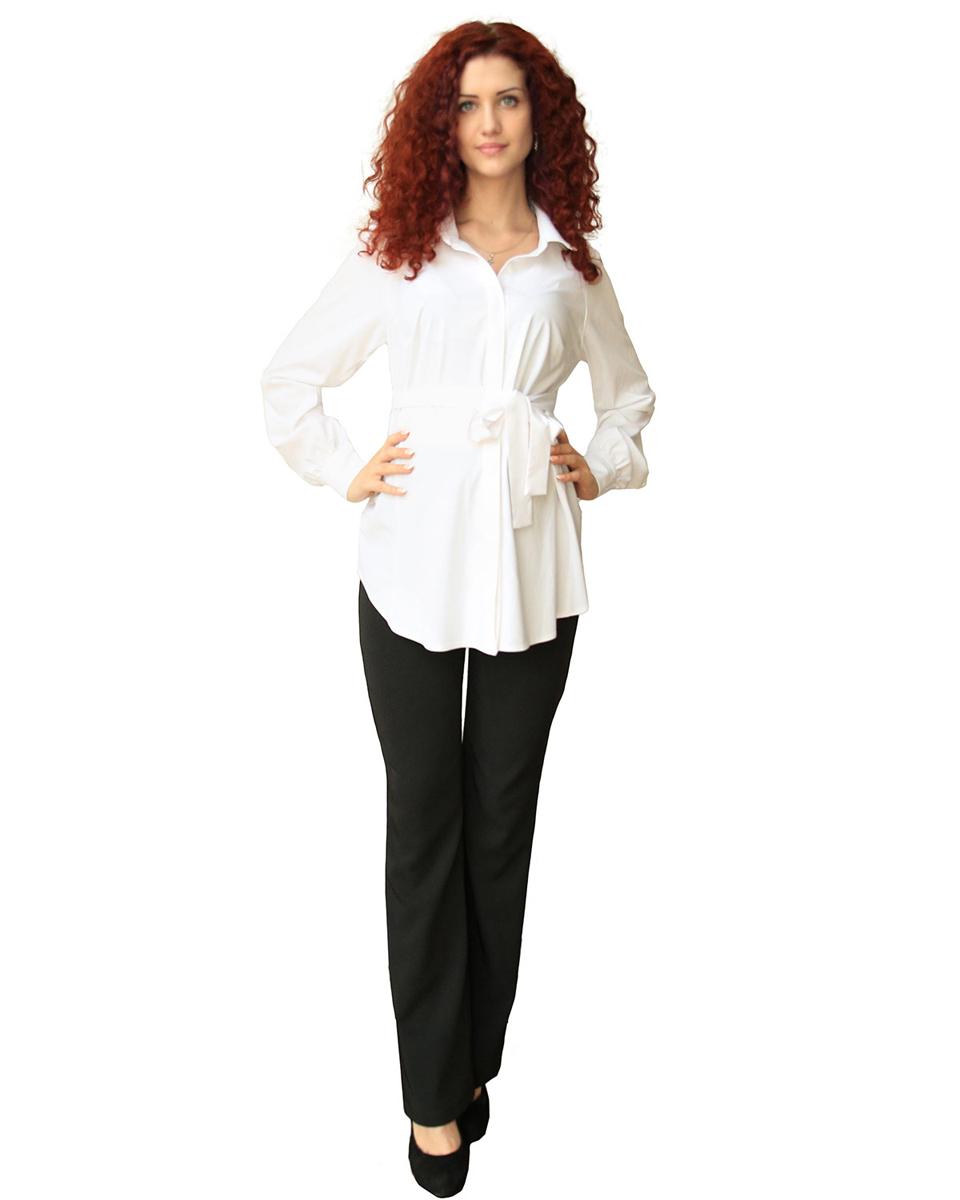 Блузка183509ЕКлассическая блузка изготовлена из мягкого натурального полотна. На полочке супатная застежка на петли и пуговицы. В боковых швах шлевки для завязывающегося пояса. Фэст - одежда по вашей фигуре.