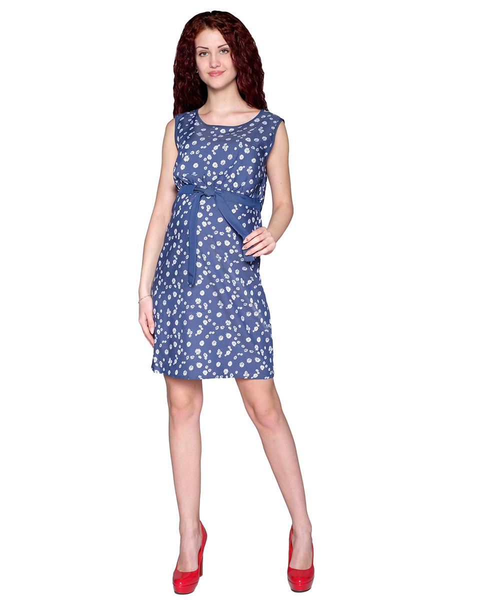 Платье для беременных Фэст, цвет: синий, белый. 3-21514. Размер XL (50)3-21514Сарафан для беременных и кормящих мамочек актуальной расцветки. Благодаря кнопкам на полочке и кулисе с поясом его можно носить и в период кормления малыша. Фэст — одежда по вашей фигуре.