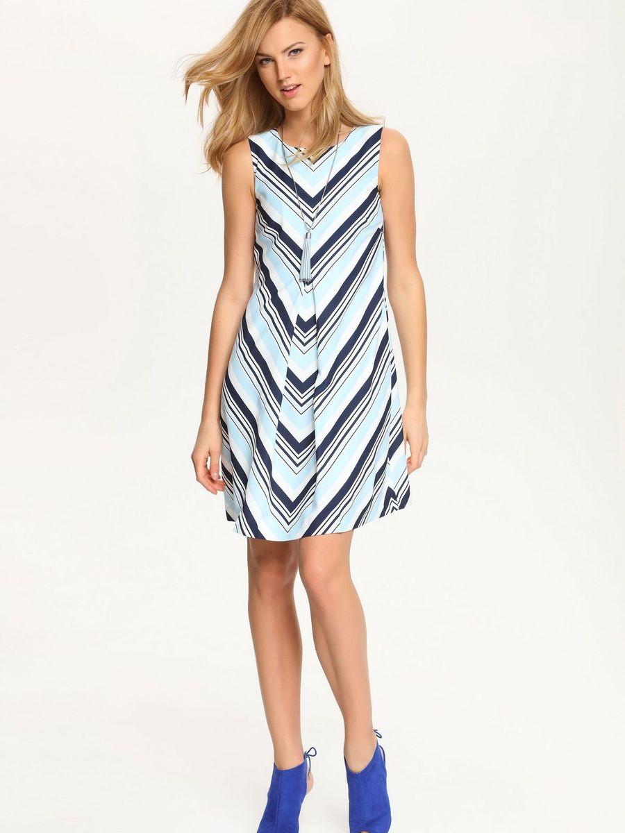 Платье Top Secret, цвет: темно-синий, белый, голубой. SSU1546NI. Размер 34 (40)SSU1546NIПлатье Top Secret идеально подойдет для вас и станет стильным дополнением к вашему гардеробу. Выполненное из полиэстера с добавлением эластана, оно очень мягкое и приятное на ощупь, не сковывает движений, обеспечивая комфорт. Подкладка изделия изготовлена из полиэстера. Модель с круглым вырезом горловины застегивается на скрытую молнию на спинке. Изделие оформлено оригинальным принтом. Это эффектное платье подчеркнет достоинства вашей фигуры и поможет создать яркий и привлекательный образ.