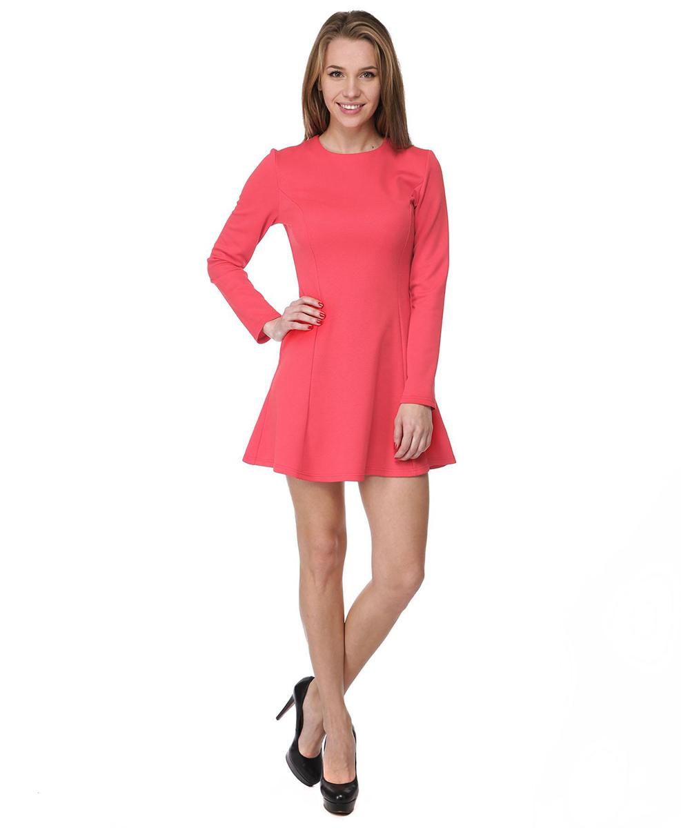 Платье Rocawear, цвет: красный. RC041410. Размер M (46)RC041410Платье А-силуэта Rocawear выполнено из качественного комбинированного материала.Платье с круглым вырезом горловины и длинными рукавами в среднем шве на спинке дополнено потайной застежкой-молнией.
