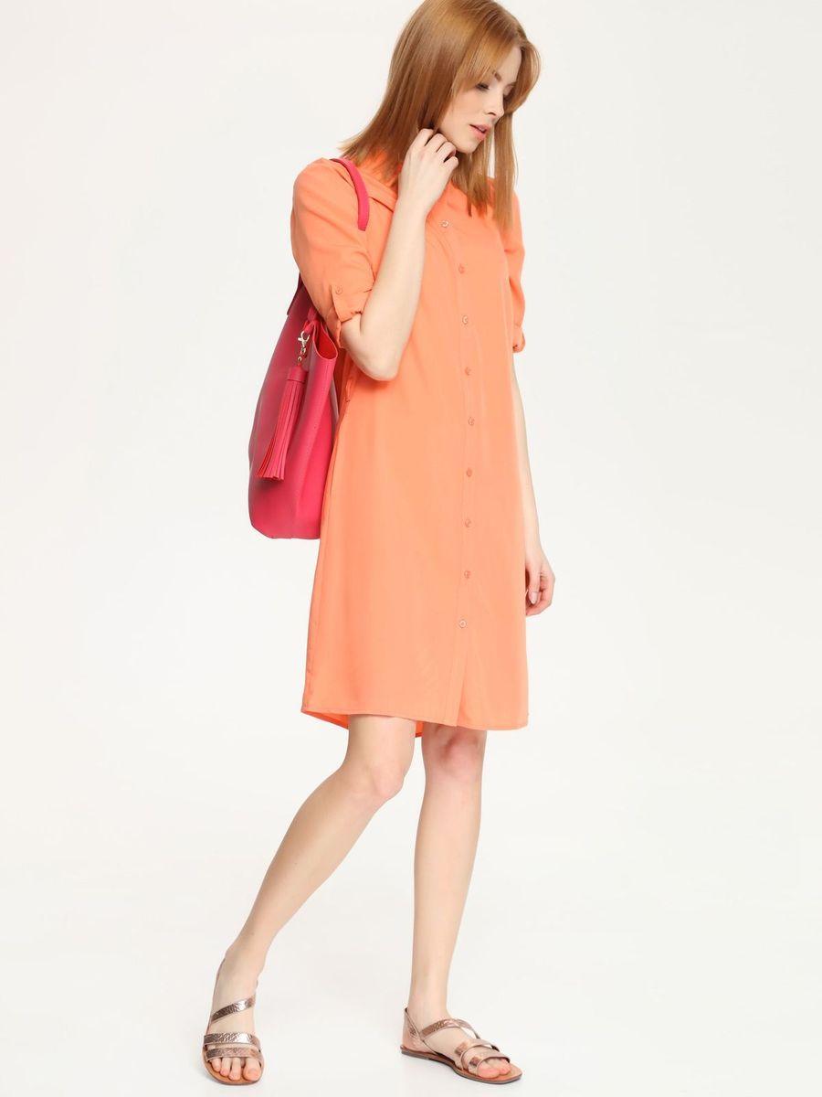 ПлатьеSSU1520POОчаровательное платье Top Secret, выполненное из хлопка с добавлением вискозы с добавлением полиэстера, идеально впишется в ваш гардероб. Модель-миди с воротником-стойкой и рукавами длиной 3/4 застегивается спереди по всей длине на пуговицы. Линию талии подчеркивает пояс. Это модное и удобное платье станет превосходным дополнением к вашему гардеробу. Модель поможет вам подчеркнуть вкус и неповторимый стиль.