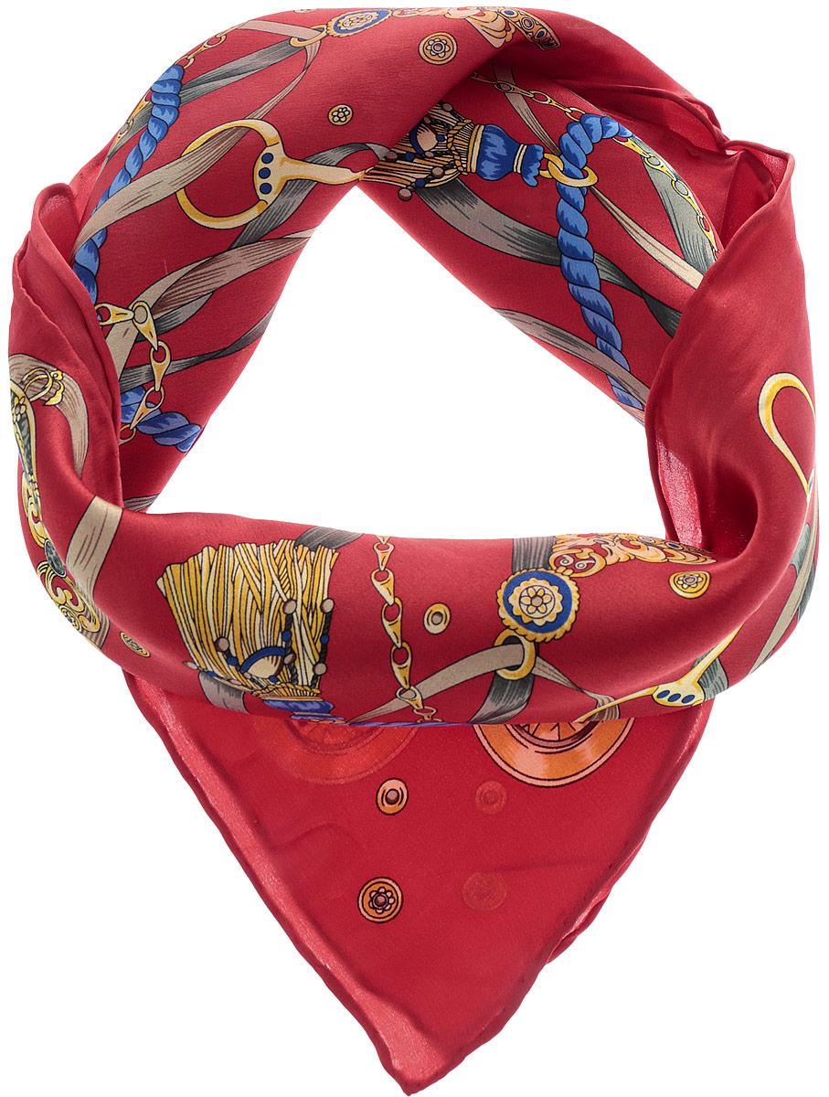 Платок72Ш_55х55_416_1Стильный женский платок Sabellino станет великолепным завершением любого наряда. Платок изготовлен из натурального шелка и оформлен оригинальным принтом. Классическая квадратная форма позволяет носить платок на шее, украшать им прическу или декорировать сумочку. Такой платок превосходно дополнит любой наряд и подчеркнет ваш неповторимый вкус и элегантность.