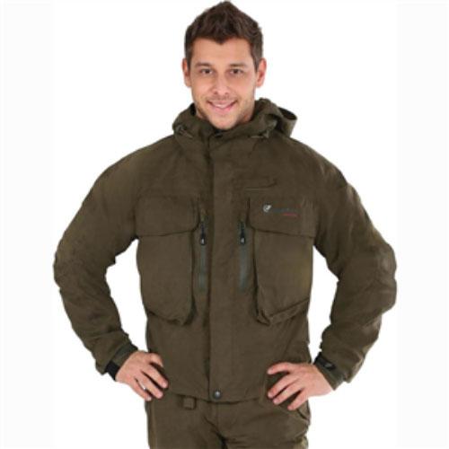 Куртка рыболовная46023-530Мужская куртка Nova Tour Риф - идеальный вариант для забродной рыбалки. Куртка выполнена из мембранной ткани. Также имеется подкладка из мембранной микросетки. Мембрана не пропускает влагу внутрь, а при физической активности пропускает испарения от тела наружу. Герметизация швов специальной лентой обеспечивает полную водонепроницаемость. Куртка анатомической формы дополнена капюшоном с жестким козырьком. Капюшон не отстегивается и утягивается скрытой резинкой на кулисках. Спереди по всей длине она застегивается на пластиковую застежку-молнию, а сверху дополнительно двойной планкой на липучках и кнопках. Спереди модель дополнена двумя большими накладными карманами с клапаном на липучках и двумя прорезными карманами на застежке-молнии. С внутренней стороны также предусмотрены два кармана - накладной и прорезной на застежке-молнии. Рукава понизу дополнены широкими манжетами с эластичной вставкой и резиновым хлястиком на липучке. Низ модели дополнен скрытой резинкой на кулисках. ...