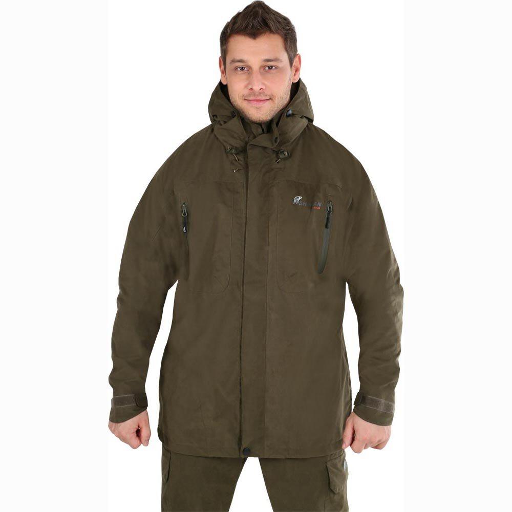 Куртка рыболовная46033-530Мужская куртка NOVA TOUR Коаст - идеальный вариант для рыбалки. Куртка выполнена из мембранной ткани с сетчатой подкладкой. Швы проклеены. Мембрана не пропускает влагу внутрь, а при физической активности пропускает испарения от тела наружу. Герметизация швов специальной лентой обеспечивает полную водонепроницаемость. Куртка с воротником-стойкой и капюшоном спереди по всей длине застегивается на пластиковую застежку-молнию с двойным бегунком, а сверху - двойной планкой на липучках и кнопках. Капюшон не отстегивается и утягивается скрытой резинкой на стопперах. При необходимости капюшон убирается под воротник. На груди расположены два накладных кармана на водонепроницаемой застежке-молнии. Низ модели также дополнен двумя прорезными карманами на скрытой застежке-молнии. С внутренней стороны имеются два сетчатых кармана: один накладной с эластичной резинкой, а другой - прорезной на застежке-молнии. На внутренней части рукавов предусмотрена вентиляционная молния. Низ рукавов...