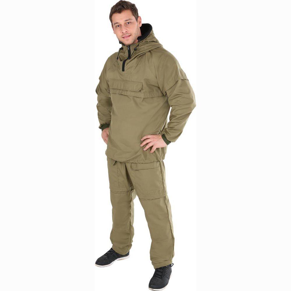 Костюм рыболовный95276-513Надежный энцефалитный костюм, защищающий от насекомых. Анорак снабжен горизонтальными складками-ловушками для насекомых, регулируемым капюшоном с москитной сеткой на молнии, убирающейся в специальный внутренний карман. Манжеты рукавов на резинке. На брюках - два грузовых кармана, колени усилены дополнительным слоем ткани, имеются шлевки под ремень и резинка.