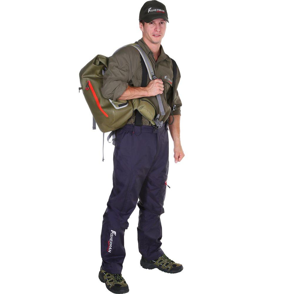 Штаны рыболовные95429-924Легендарные брюки стали еще технологичнее и круче! Брюки сшиты из специальной износостойкой, влагоотталкивающей ткани покрытой мембраной 10000/10000, швы проклеены. Лямки-бретельки, которые можно снять, карманы для необходимых в рыбалке мелочей с влагозащищенной молнией, пояс и спинка с подкладкой из микрофлиса для комфорта и конечно же, анатомический крой, благодаря которому брюки идеально сидят и не стесняют движения! Анатомический крой в области колена. Регулировка ширины низа брюк. Регулируемые эластичные лямки. Проклеенные швы.
