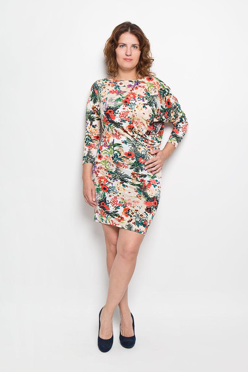 Платье20216_1Платье Milana Style идеально подойдет для вас и станет стильным дополнением к вашему гардеробу. Выполненное из мягкого гладкого материала, оно очень приятное на ощупь, не сковывает движений и хорошо вентилируется. Модель с вырезом горловины лодочка и рукавами-летучая мышь длиной 3/4 оформлена цветочным принтом. За счёт асимметричности рукавов платье в области талии изящно драпируется, что позволяет подчеркнуть достоинства фигуры. Такое платье поможет создать яркий и привлекательный образ, который не оставит вас незамеченной.