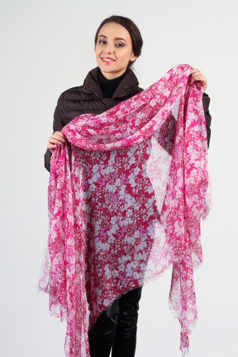 ПалантинSC-7301-2Стильный женский палантин Laura Milano станет великолепным завершением любого наряда. Палантин изготовлен из вискозы с добавлением шелка и оформлен цветочным принтом. По краям модель дополнена неширокой бахромой. Изящный палантин поможет вам создать изысканный женственный образ, а также согреет в непогоду.