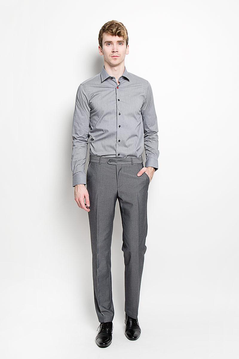 РубашкаSW 84_01Мужская рубашка KarFlorens, изготовленная из высококачественного хлопка с добавлением нейлона и лайкры, необычайно мягкая и приятная на ощупь, она не сковывает движения и позволяет коже дышать, обеспечивая комфорт. Рубашка с длинными рукавами и отложным воротником застегивается на пуговицы, которые оформлены тиснением с названием бренда. Манжеты со срезанными уголками и регулировкой ширины также застегиваются на пуговицы. Такая рубашка станет идеальным вариантом для повседневного гардероба. Она порадует настоящих ценителей комфорта и практичности!