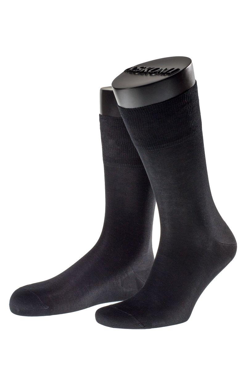 Носки мужские Askomi Classic, цвет: черный. АМ-7100_8101. Размер 29 (43-44)АМ-7100_8101Мужские носки Askomi для повседневной носки выполнены из мерсеризованного хлопка. Такой хлопок придает носкам блеск, эластичность и шелковистость. Использована двойная тонкая нить, благодаря чему носок приобретает эластичность без добавления синтетических нитей. Носок и пятка укреплены, что значительно увеличивает износостойкость носков. Двойной борт для плотной фиксации не пережимает сосуды. Кеттельный шов не ощутим для ноги.