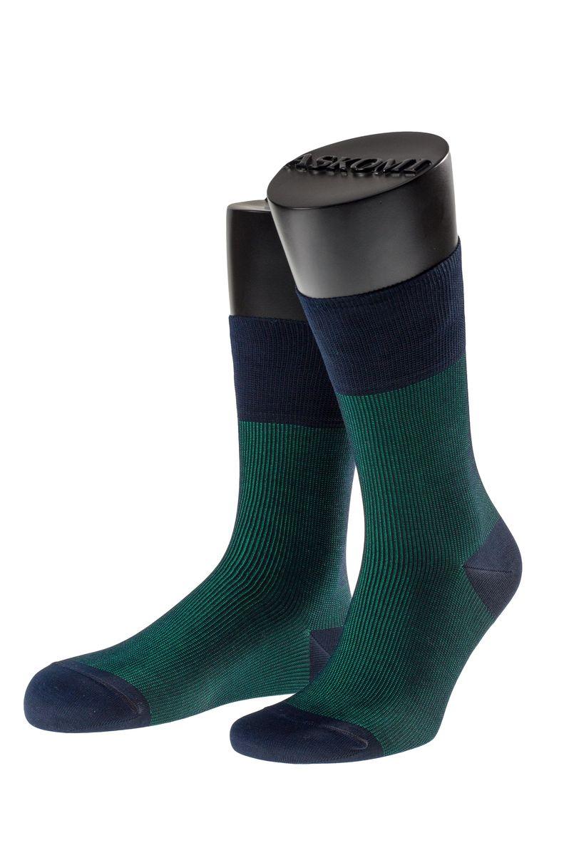 Носки мужские Askomi Casual, цвет: зеленый. АМ-7703_5201. Размер 29 (43-44)АМ-7703_5201Мужские носки Askomi Casual выполнены из хлопка с добавлением полиамида. Двойной борт для плотной фиксации не пережимает сосуды. Укрепление мыска и пятки для идеальной прочности. Кеттельный шов не ощутим для ноги.