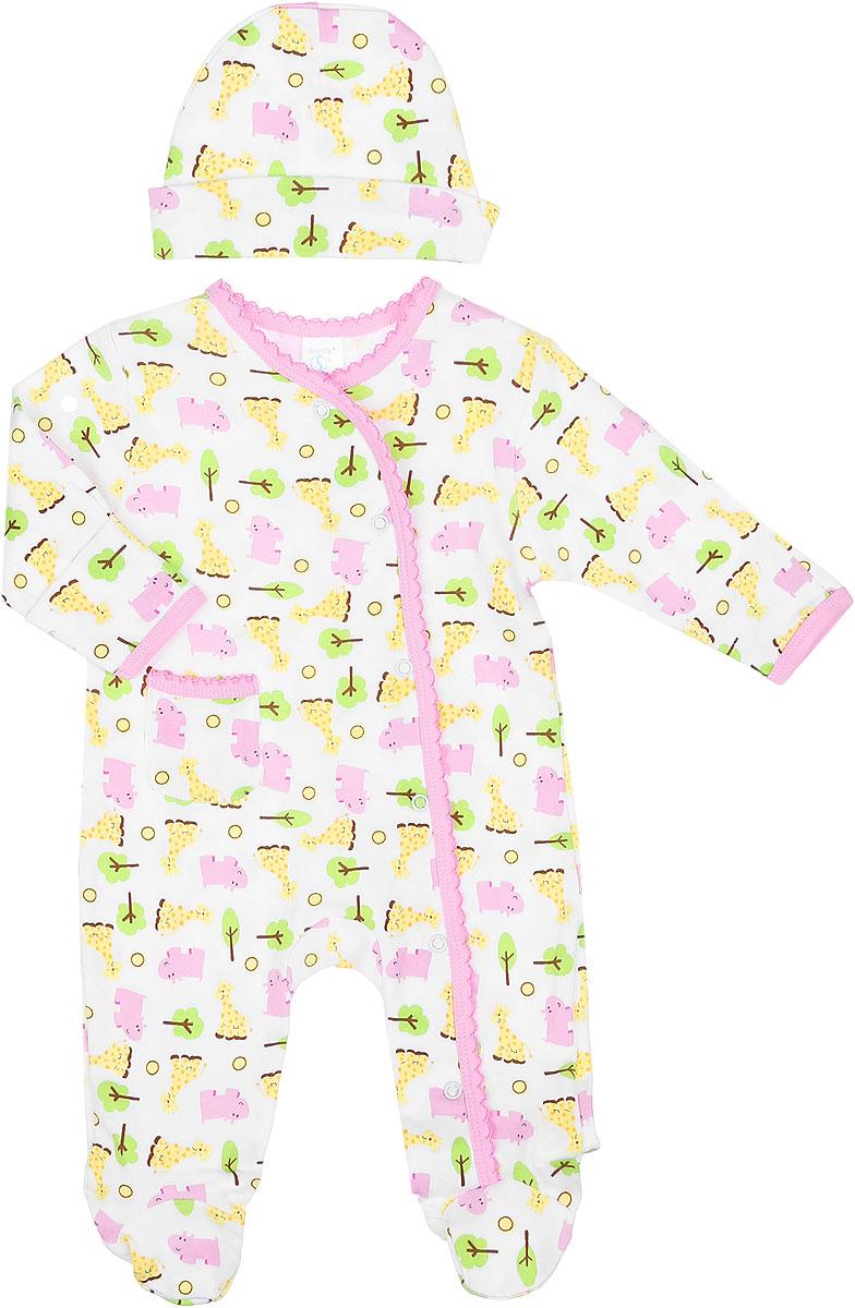 Комплект одеждыSL A3PКомплект одежды для девочки Spasilk, состоящий из комбинезона и шапочки, станет отличным дополнением к детскому гардеробу. Изготовленный из натурального хлопка, он очень мягкий и приятный на ощупь, не сковывает движения и позволяет коже дышать, обеспечивая комфорт. Комбинезон с круглым вырезом горловины, длинными рукавами и закрытыми ножками имеет застежки-кнопки от горловины до ступни, которые помогают легко переодеть малышку или сменить подгузник. На рукавах предусмотрены рукавички, благодаря которым ребенок не поцарапает себя. Ручки могут быть как открытыми, так и закрытыми. Спереди расположен накладной кармашек. Края изделия оформлены окантовкой с ажурными петельками. В таком комбинезоне спинка и ножки ребенка всегда будут в тепле, кроха будет чувствовать себя комфортно и уютно. Шапочка необходима любому младенцу, она защищает еще не заросший родничок, щадит чувствительный слух малыша, прикрывая ушки, а также предохраняет от теплопотерь. На модели...