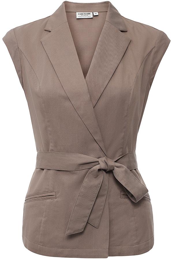 ЖилетS16-11008Стильный женский жилет Finn Flare - отличное дополнение любого наряда и превосходный вариант для прохладной погоды. Приталенная модель без рукавов, дополненная воротником с лацканами, украсит ваш образ и сделает его неповторимым. Жилет застегивается на крупные пуговицы, спереди дополнен двумя втачными карманами. В комплект входит узкий текстильный пояс. Этот удобный и эффектный жилет, несомненно, впишется в ваш гардероб, в нем вы будете чувствовать себя уютно и комфортно.