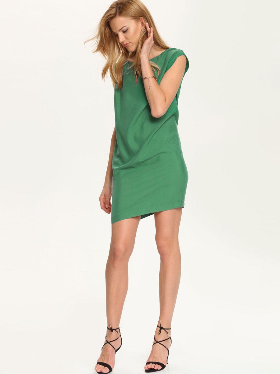 ПлатьеSSU1542ZI[E]Платье Top Secret выполнено из высококачественного комбинированного материала. Платье-мини с круглым вырезом горловины застегивается на потайную застежку-молнию расположенную в среднем шве спинки. Спереди платье оформлено вырезом и декоративным металлическим элементом.