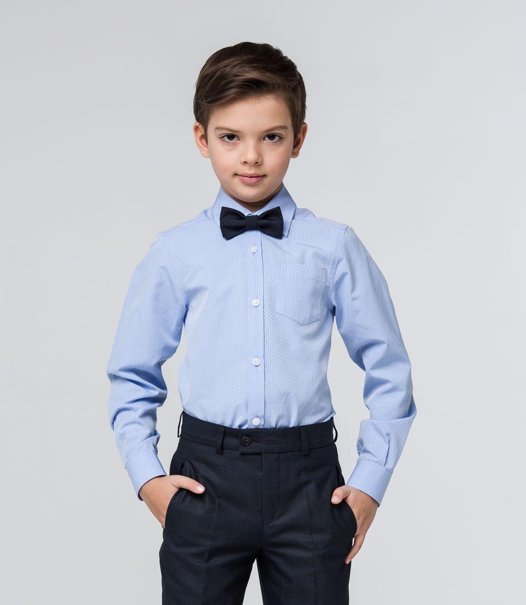 РубашкаSSFSB-629-13830-319Стильная рубашка Silver Spoon станет отличным дополнением к школьному гардеробу вашего мальчика. Модель, выполненная из хлопка с добавлением полиэстера, необычайно мягкая и приятная на ощупь, не сковывает движения и позволяет коже дышать. Рубашка классического кроя с длинными рукавами и отложным воротником застегивается на пуговицы по всей длине. На манжетах предусмотрены застежки-пуговицы. На груди расположен накладной карман. Модель оформлена оригинальным принтом.