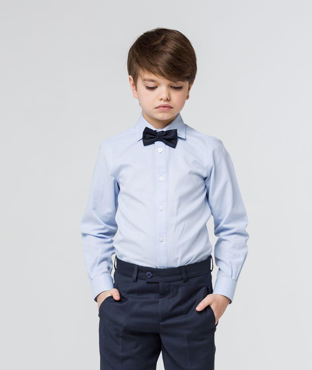 Рубашка для мальчика Silver Spoon, цвет: голубой. SSFSB-629-13831-331. Размер 164SSFSB-629-13831-331Стильная рубашка Silver Spoon станет отличным дополнением к школьному гардеробу вашего мальчика. Модель, выполненная из хлопка с добавлением полиэстера, необычайно мягкая и приятная на ощупь, не сковывает движения и позволяет коже дышать. Рубашка классического кроя с длинными рукавами и отложным воротником застегивается на пуговицы по всей длине. На манжетах предусмотрены застежки-пуговицы.