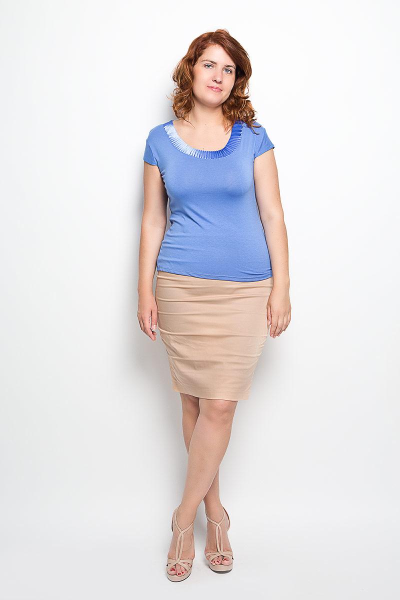 Юбка Milana Style, цвет: бежевый. 30316. Размер 5030316Эффектная юбка-карандаш Milana Style выполнена из хлопка с добавлением полиамида, она обеспечит вам комфорт и удобство при носке. Такой материал обладает высокой гигроскопичностью, великолепно пропускает воздух и не раздражает кожуОднотонная юбка-карандаш застегивается на потайную застежку-молнию сбоку, на поясе имеются шлевки для ремня. Модная юбка выгодно освежит и разнообразит ваш гардероб. Создайте женственный образ и подчеркните свою яркую индивидуальность! Классический фасон и оригинальное оформление этой юбки позволят вам сочетать ее с любыми нарядами.