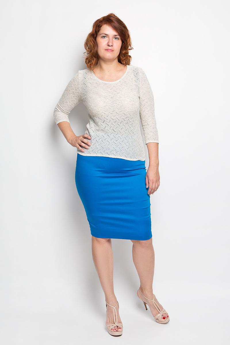 Юбка Milana Style, цвет: ярко-синий. 30316. Размер 4230316Эффектная юбка-карандаш Milana Style выполнена из хлопка с добавлением полиамида, она обеспечит вам комфорт и удобство при носке. Такой материал обладает высокой гигроскопичностью, великолепно пропускает воздух и не раздражает кожуОднотонная юбка-карандаш застегивается на потайную застежку-молнию сбоку, на поясе имеются шлевки для ремня. Модная юбка выгодно освежит и разнообразит ваш гардероб. Создайте женственный образ и подчеркните свою яркую индивидуальность! Классический фасон и оригинальное оформление этой юбки позволят вам сочетать ее с любыми нарядами.