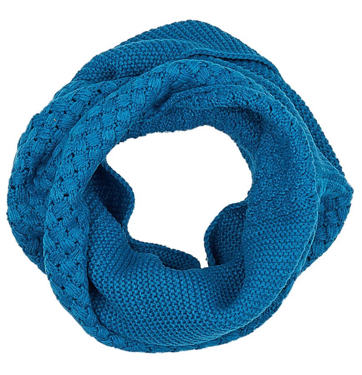 Снуд-хомут женский Eleganzza, цвет: синий, серый. DB33-6403-12. Размер 32 см х 130 смDB33-6403-12Женский вязаный снуд-хомут Eleganzza станет отличным дополнением к гардеробу в холодную погоду. Изготовленный из высококачественной пряжи с содержанием шерсти и вискозы, он необычайно мягкий и приятный на ощупь, максимально сохраняет тепло.Изделие представляет собой объемный шарф, связанный по кругу. Модель оформлена вязаным узором. Модный аксессуар гармонично дополнит образ современной женщины, следящей за своим имиджем и стремящейся всегда оставаться стильной.