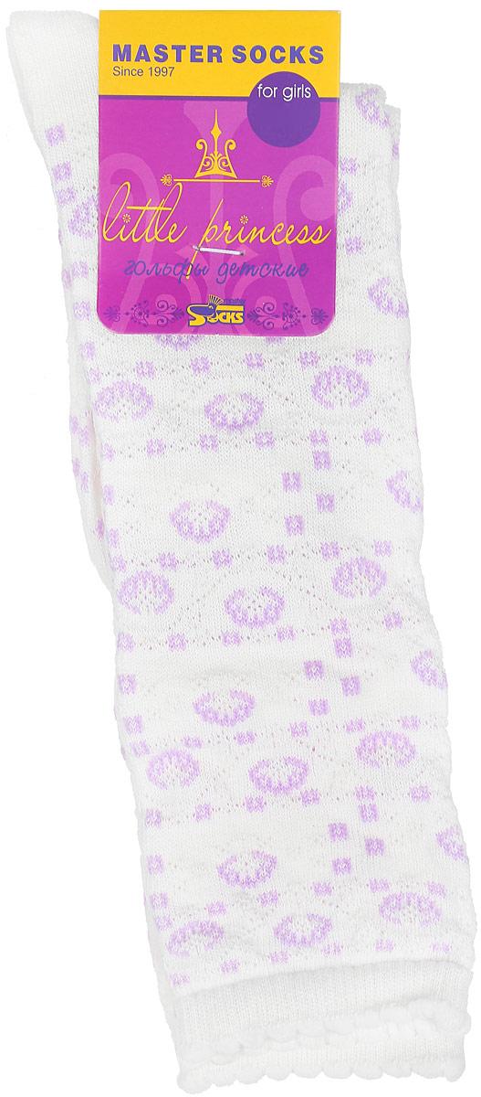 Гольфы83000Гольфы для девочки Master Socks Little Princess выполнены из мягкого эластичного материала. Изделие приятное на ощупь, хорошо пропускает воздух. Эластичная резинка с фигурным краем мягко облегает ножку ребенка, создавая удобство и комфорт. Усиленные пятка и мысок обеспечивают надежность и долговечность. Гольфы оформлены красивыми рельефными рисунками. Гольфы станут отличным дополнением к гардеробу маленькой модницы! Уважаемые клиенты! Размер, доступный для заказа, является длиной стопы.