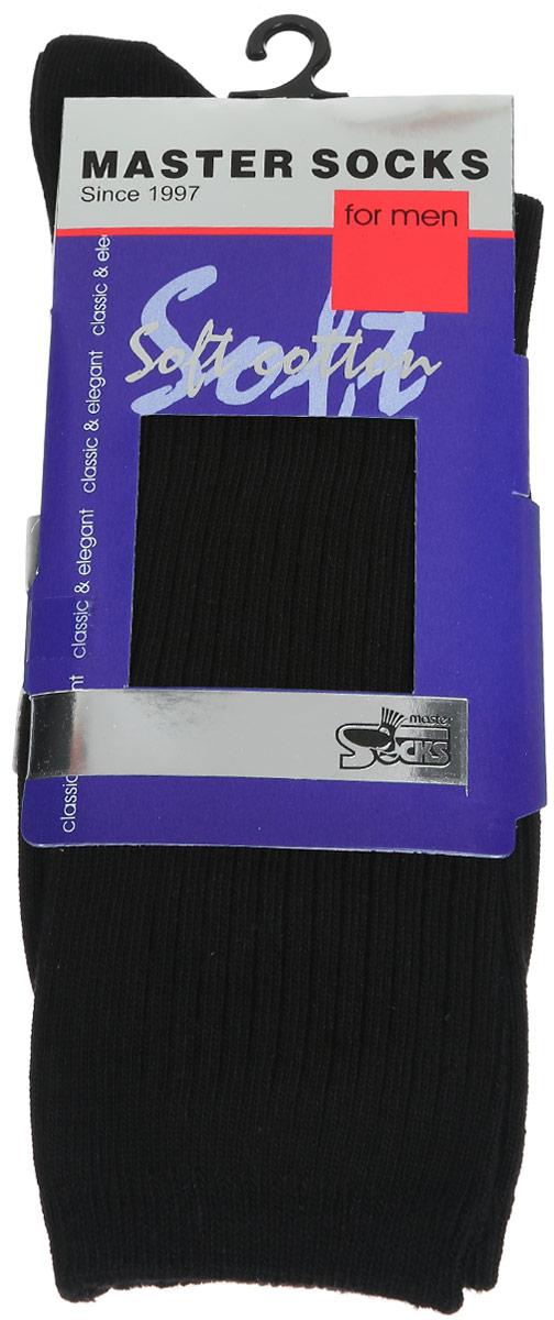 Носки88105Удобные носки Master Socks, изготовленные из высококачественного комбинированного материала, очень мягкие и приятные на ощупь, позволяют коже дышать. Эластичная резинка плотно облегает ногу, не сдавливая ее, обеспечивая комфорт и удобство. Носки с паголенком классической длины. Практичные и комфортные носки великолепно подойдут к любой вашей обуви.